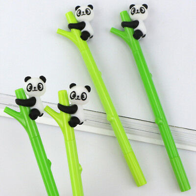 Cartoon Panda Bamboo Neutral Pens Stationery Gift Gel Pen Office School Supplies