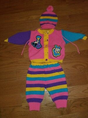 Vintage Disney Baby Girls Outfit 3 Pieces Size 0-6 Months