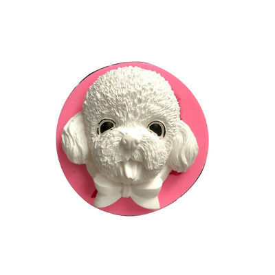 Cute Teddy Dog Shape Aroma Plaster Silicone Mold DIY Soap Mould Tool Novelty