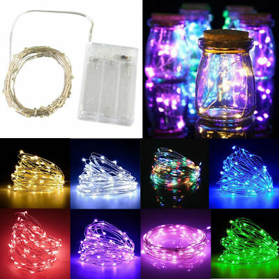 20-100 LED Battery Operated Micro Rice Wire Copper String Fairy Lights Party