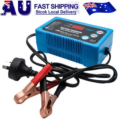 6/12V Smart AGM GEL WET Battery Automatic Charger Maintainer fr Car Boat AU Plug