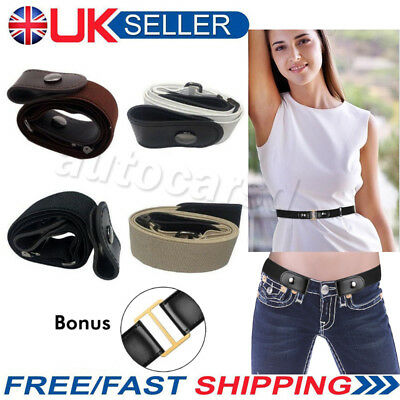 Xmas Gift Buckle-free Elastic Women Men Invisible Belt for Jeans No Bulge Hassle