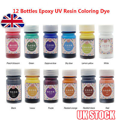 12 Bottles Epoxy UV Resin Coloring Dye Colorant Resin Pigment Art Craft Y8
