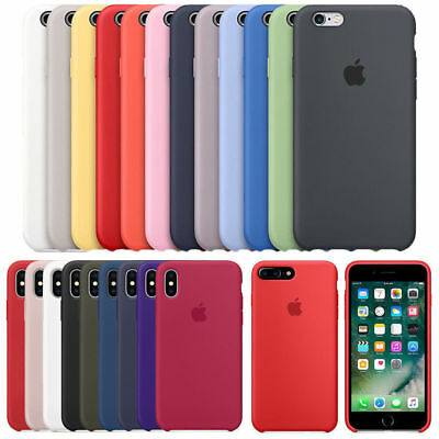 OEM Original Silicone Soft Case For i Phone 8 Plus X XR XS Max Genuine Cover