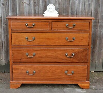 Quality Walnut Rosewood Chest of Drawers Solid Wood 2 + 3 Drawers Modern Ex Cond