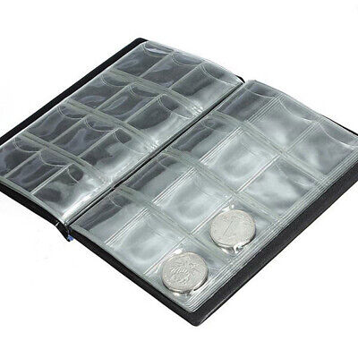 120 Pocket Coin Holder Album Case Collection Money Penny Storage Collecting Book
