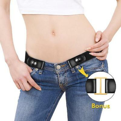 US Gift Buckle-free Elastic Women Men Invisible Belt for Jeans No Bulge Hassle