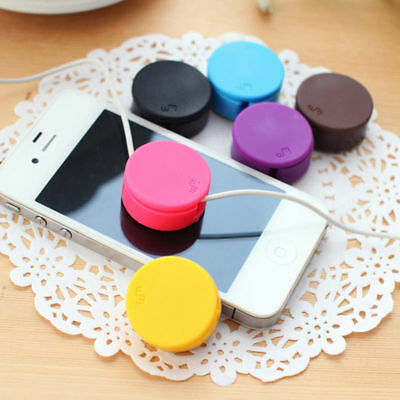 1pcs Silicone Tidy Headphone Line Cord Holder Headset Earphone Cable Winder New