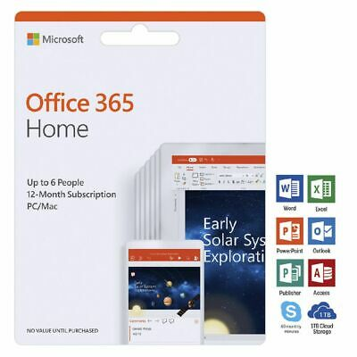 Microsoft Office 365 Home Up to 6 People 12 Months Card