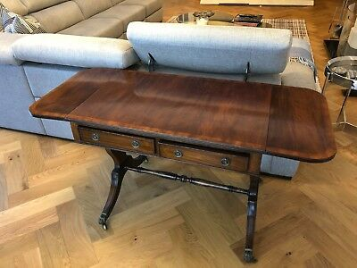 Sofa table with Draws and Fold up Wings Circa 1900
