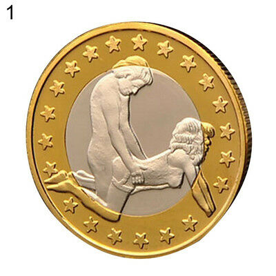 Fj- Sex Euros Golden Coins Collectible 18+ Adults Only Couple Gift Commemorative