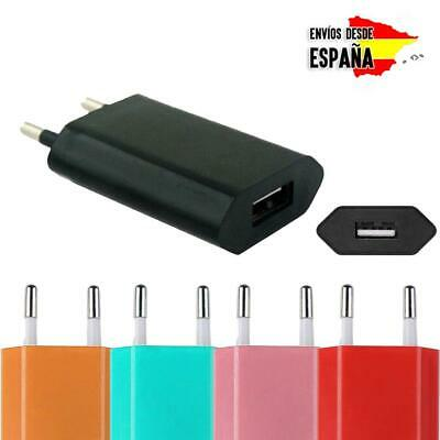 Cargador de pared adaptador corriente 1A USB para movil smartphone Android