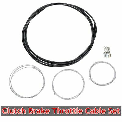 Universal Motorcycle Clutch Brake Cable & Throttle Cable Harness Replacement Set
