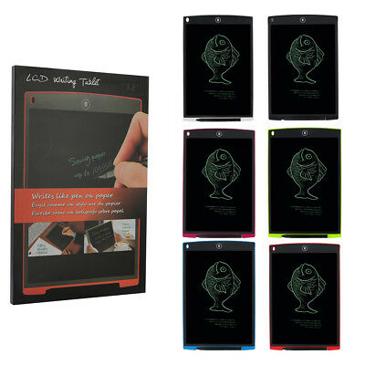 "12/"" Writing LCD Tablet Board Drawing Pad Notepad E-Writer Digital Graphic M0G6N"