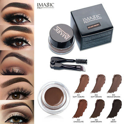 Eyebrow Enhancers Waterproof Long Lasting EyeBrow Gel Cream Makeup + Brush