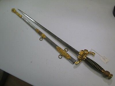 Hi Grade Fraternal Sword With Scabbard Named Blade Made By Ames #jm