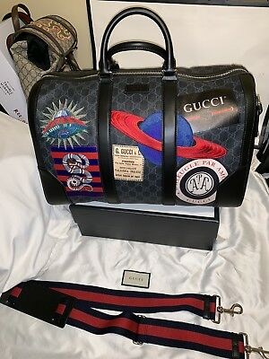 daaa1b86b GUCCI NIGHT COURRIER soft GG Supreme carry-on duffle $3,490 ...
