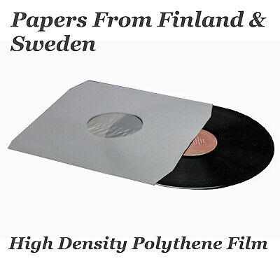 """200 12"""" Inch White Paper Poly Lined Inner Record Sleeves 90gr Anti-Static bev"""