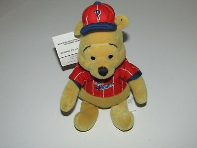 "Disney Winnie the Pooh plush soft toy - 8"" Pooh baseball beanbag new with tag"