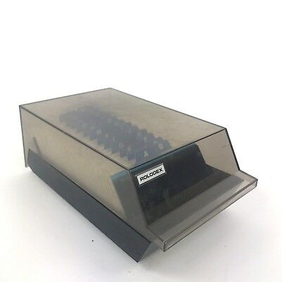 """ROLODEX Vtg VIP 24C Covered Card File Organizer Blank 2 1/4"""" x 4"""" Cards A-Z"""