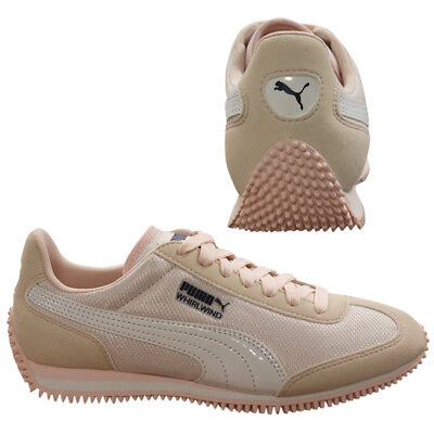 7c7f7140762b5 Puma Whirlwind Mesh Lace Up Textile Girls Junior Trainers Pearl 357232 16  WHA