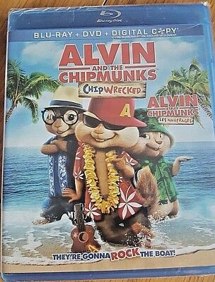 Alvin and the Chipmunks Chipwrecked BluRay+DVD+DIGITAL Copy New Free Ship
