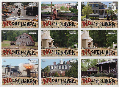 2017 The Walking Dead Evolution No Safe Haven Inserts COMPLETE SET #NSF1 - NSF9