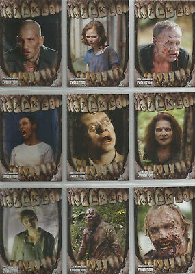 2017 The Walking Dead Evolution Walkers Inserts COMPLETE CHASE SET #WA1 - WA10