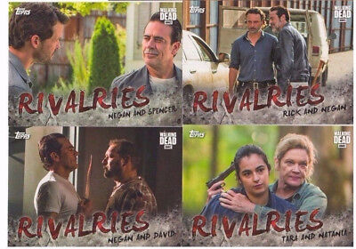 2017 The Walking Dead Season 7 Rivalries Inserts COMPLETE CHASE SET #R1 - R4