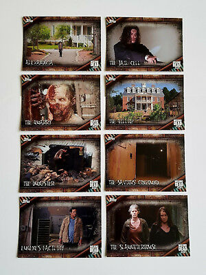 2017 The Walking Dead Season 6 Locations Inserts COMPLETE CHASE SET #L1 - L8