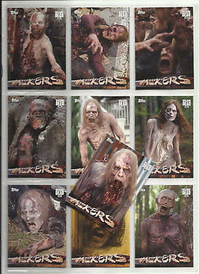 2017 The Walking Dead Season 6 Walkers Inserts COMPLETE CHASE SET #W1 - W10