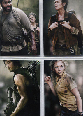 2016 The Walking Dead Season 4 Part 1 Poster Inserts COMPLETE CHASE SET #D1 - D4