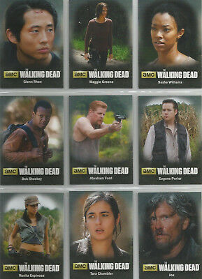 2016 The Walking Dead Season 4 Part 2 Character Inserts COMPLETE SET #C10 - C18