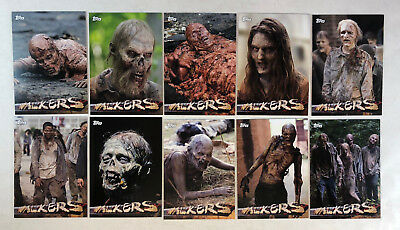 2016 The Walking Dead Season 5 Walkers Inserts COMPLETE CHASE SET #W1 - W10