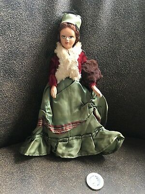 "Vintage Peggy Nisbet Collectable Doll H206 Victorian Lady Costume Doll 8"" 20cms"