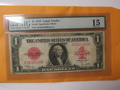 Fr#40 1923 $1 Legal Tender (Red Seal)