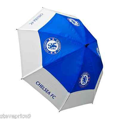 Brand New Chelsea Fc Double Canopy Golf Umbrella.