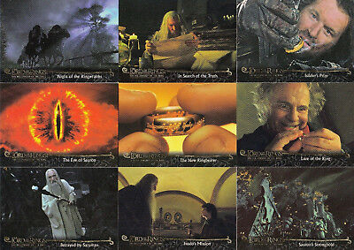 2002 Lord of the Rings Fellowship Update COMPLETE BASE SET Herr der Ringe 91-162