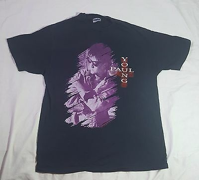 Vintage 1987 Paul Young Nine Flew Over The Cuckoos Nest World Tour shirt Size XL