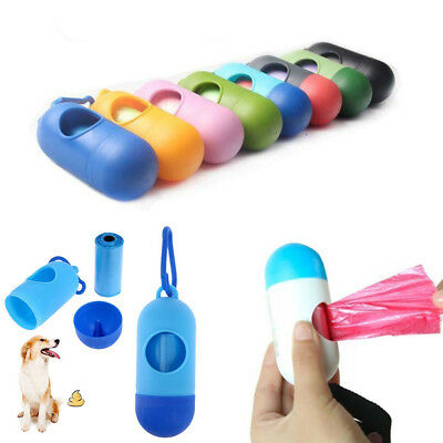 Poop Pet Trash Garbage Bags Waste Dispenser Dog Cat Carrier Box Holder Bone Case