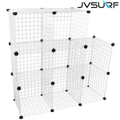 8 Cube Wire Grid Unit DIY Shelving Bookcase Storage Display Cabinet &Rabbit Cage