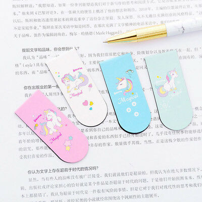 New Unicorn Magnetic Bookmark Marker of Page School Office Student Reading Kids