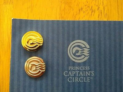 Princess Cruises Captain's Circle Gold And Silver Badges
