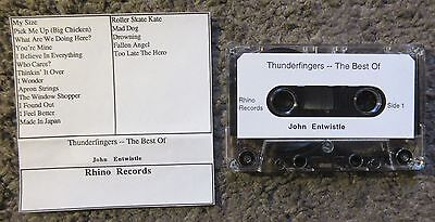 """John Entwistle (The Who) """"thunderfingers-The Best Of"""" 1996 Unplayed Advance Tape"""