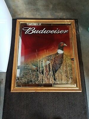 Budweiser pheasant beer mirror sign