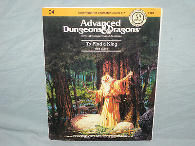 AD&D 1st Edition Adventure -  C4 TO FIND A KING  (Rare RPGA MODULE and EXC!!)