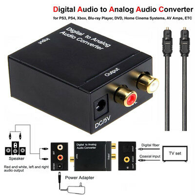SPDIF Optical Coaxial Toslink Digital to RCA L/R Analog Audio Converter