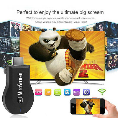Wireless WIFI Display Dongle HDMI Adapter 1080P Miracast DLNA AirPlay TV UK F1