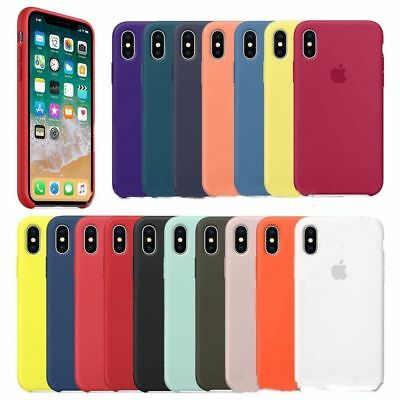 OEM Original Silicone Case For iPhone 5 6 6S 7 8 Plus X XR XS Max Genuine Cover