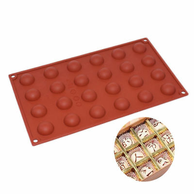 24 Cavity Mini Half Sphere Ball Round Silicone Cake Baking Mold Ice Cube Mould